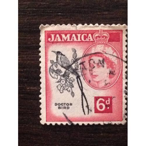 Марка. Ямайка. Фауна. 6 d.