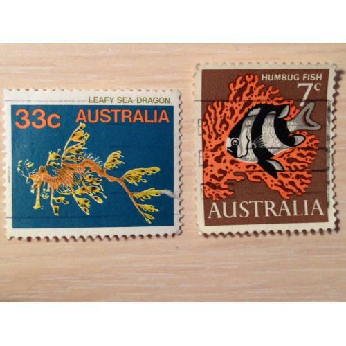 Марки из серии Морские обитатели. Австралия.