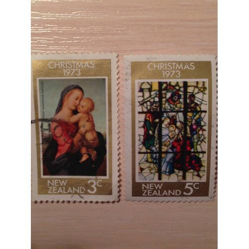 Марки из серии Рождество 1973. Новая Зеландия.