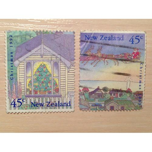 Марки из серии Рождество 1992. Новая Зеландия.
