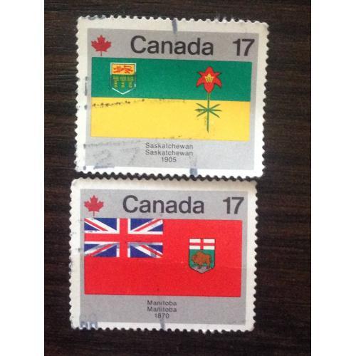 Марки. Канада. Флаги. ®