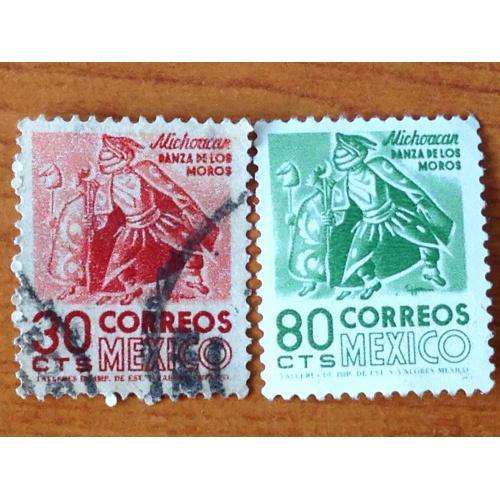 Серия марок. Мехико. 30 и 80 cts.