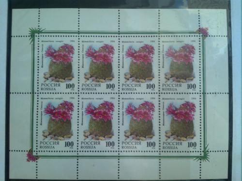 Марка почтовая Россия 1994 Кактусы 2 МЛ
