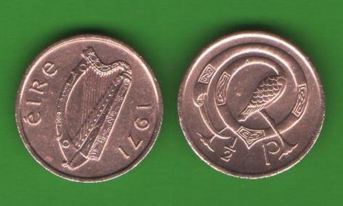 1/2 пенни Ирландия 1971