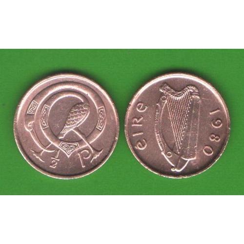 1/2 пенни Ирландия 1980