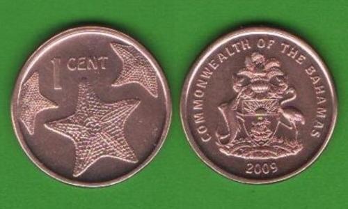 1 цент Багамские о-ва 2009