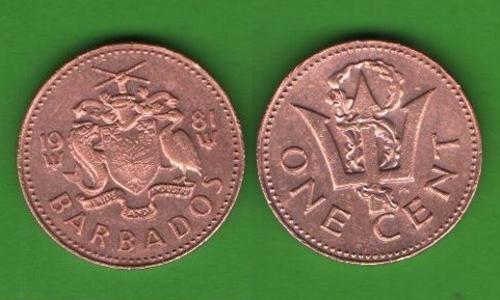 1 цент Барбадос 1981