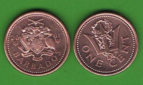 1 цент Барбадос 2001