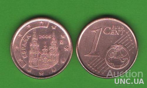 1 цент Испания 2006