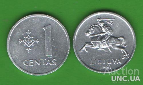 1 цент Литва 1991