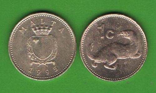 1 цент Мальта 1995