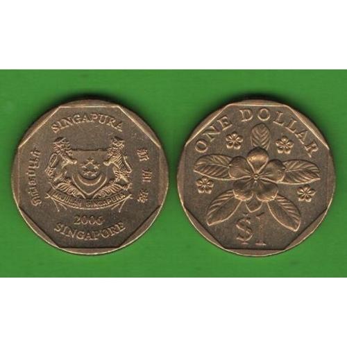 1 доллар Сингапур 2006