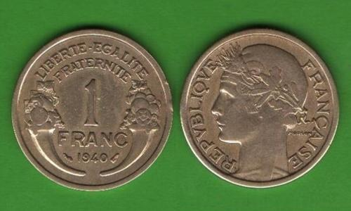 1 франк Франция 1940
