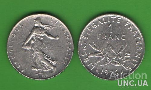 1 франк Франция 1976