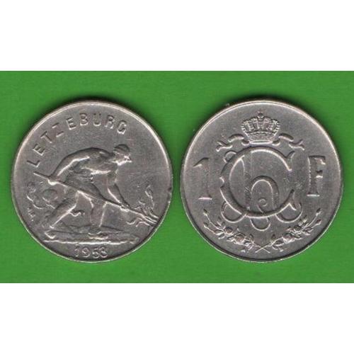 1 франк Люксембург 1953