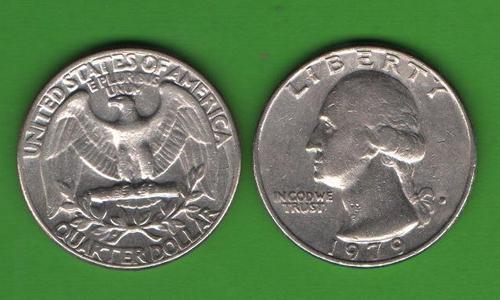 25 центов США 1979 D