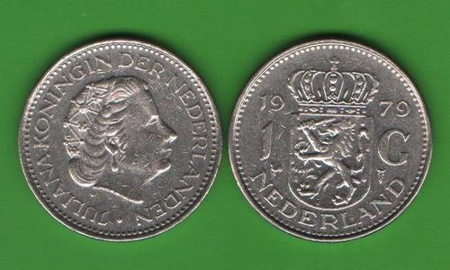 1 гульден Нидерланды 1979