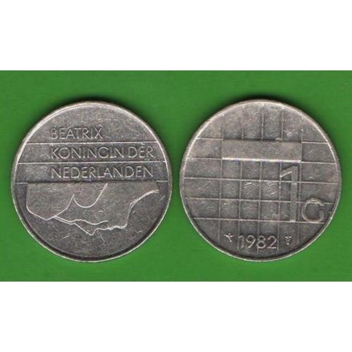 1 гульден Нидерлвнды 1982