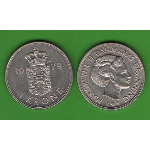 1 крона Дания 1979