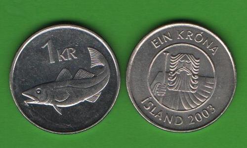 1 крона Исландия 2003