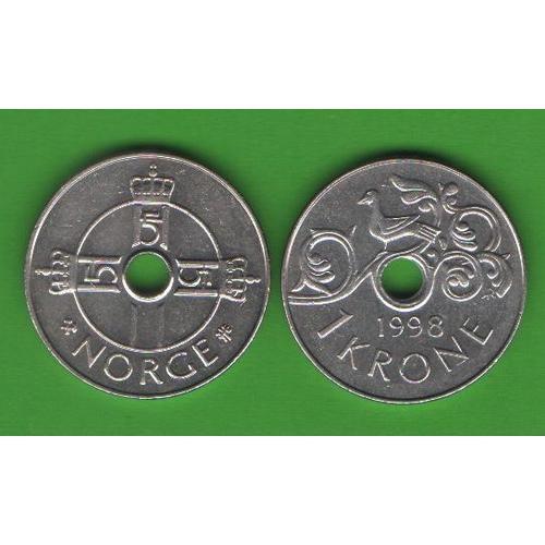 1 крона Норвегия 1998