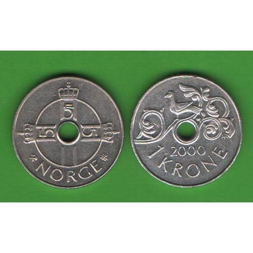 1 крона Норвегия 2000