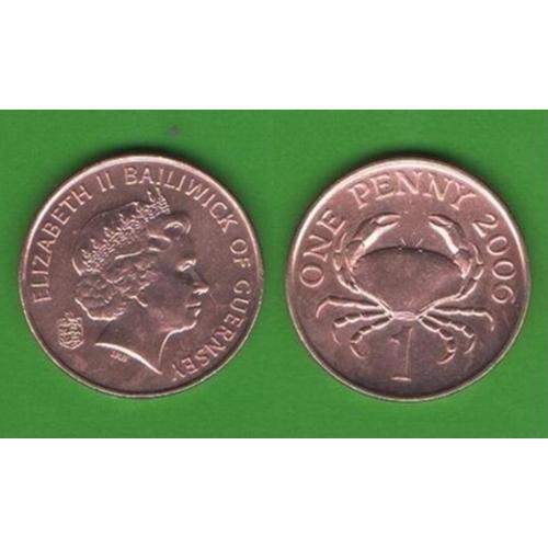 1 пенни о. Гернси 2006