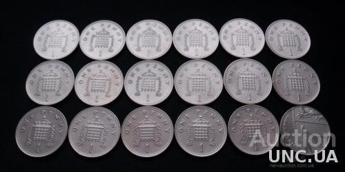 1 пенни Великобритания (1992-2009)