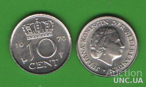 10 центов Нидерланды 1976