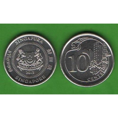 10 центов Сингапур 2013