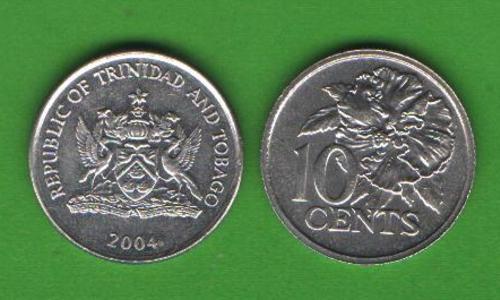 10 центов Тринидад и Тобаго 2004