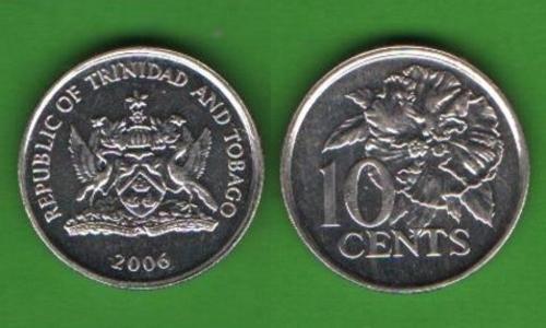10 центов Тринидад и Тобаго 2006