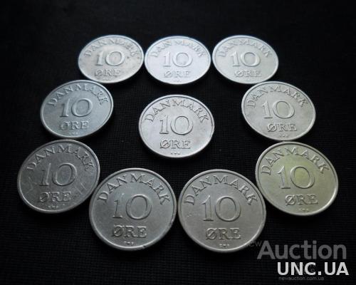 10 эре Дания 1949-1958
