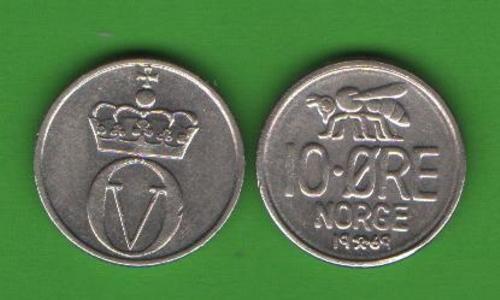 10 эре Норвегия 1969