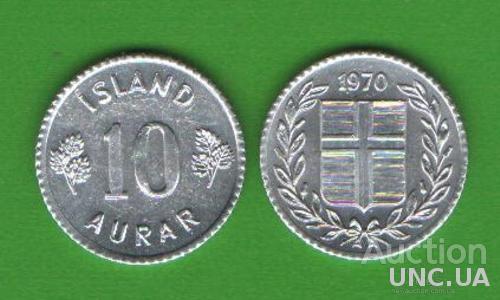 10 эйре Исландия 1970