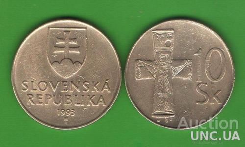 10 крон Словакия 1993