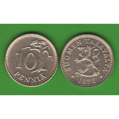 10 пенни Финляндия 1972