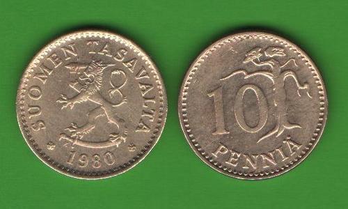 10 пенни Финляндия 1980