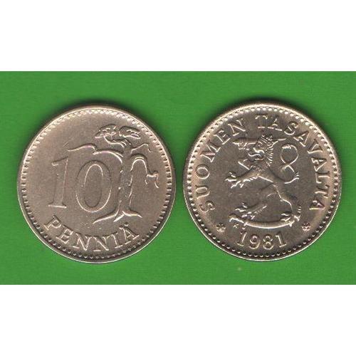 10 пенни Финляндия 1981