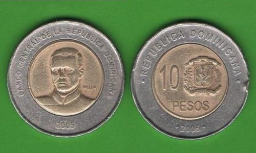 10 песо Доминиканская Республика 2005