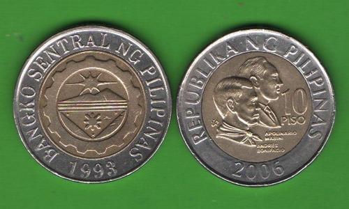 10 песо Филиппины 2006