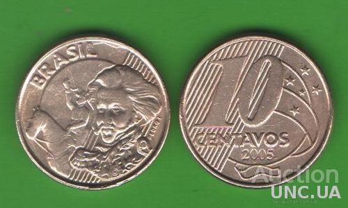 10 сентаво Бразилия 2005