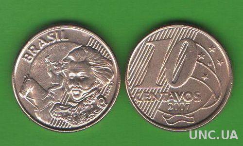 10 сентаво Бразилия 2007