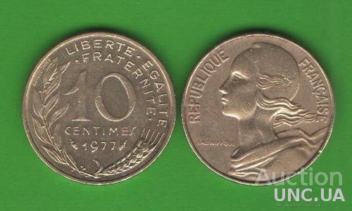 10 сентим Франция 1977