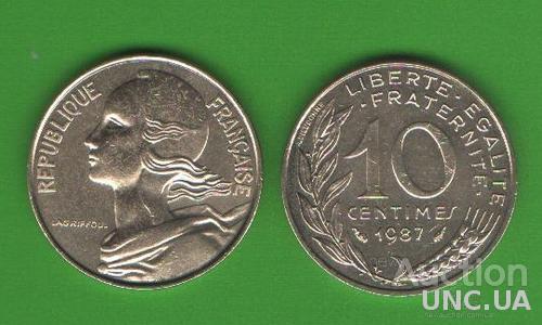 10 сентим Франция 1987