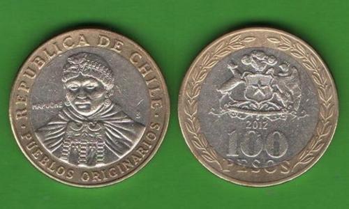 100 песо Чили 2012