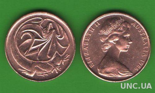 2 цента Австралия 1966