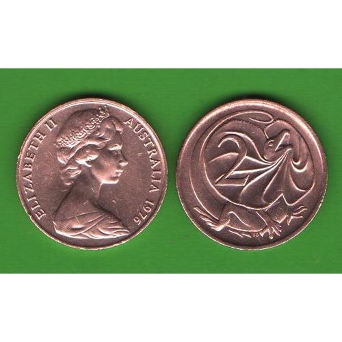 2 цента Австралия 1976