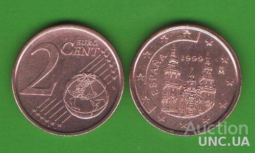 2 цента Испания 1999