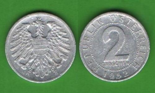 2 гроша Австрия 1952